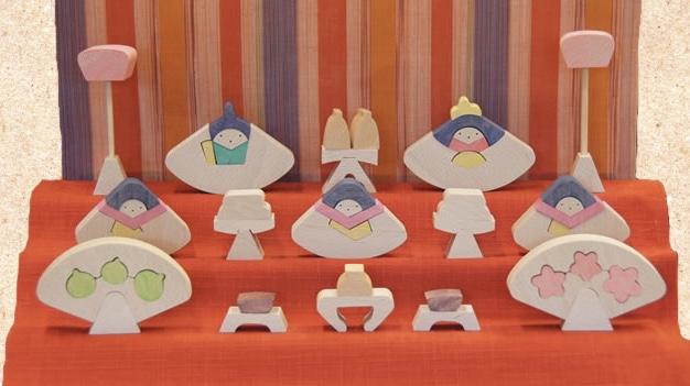 糸のこで「ひな人形段飾り」を作ろう