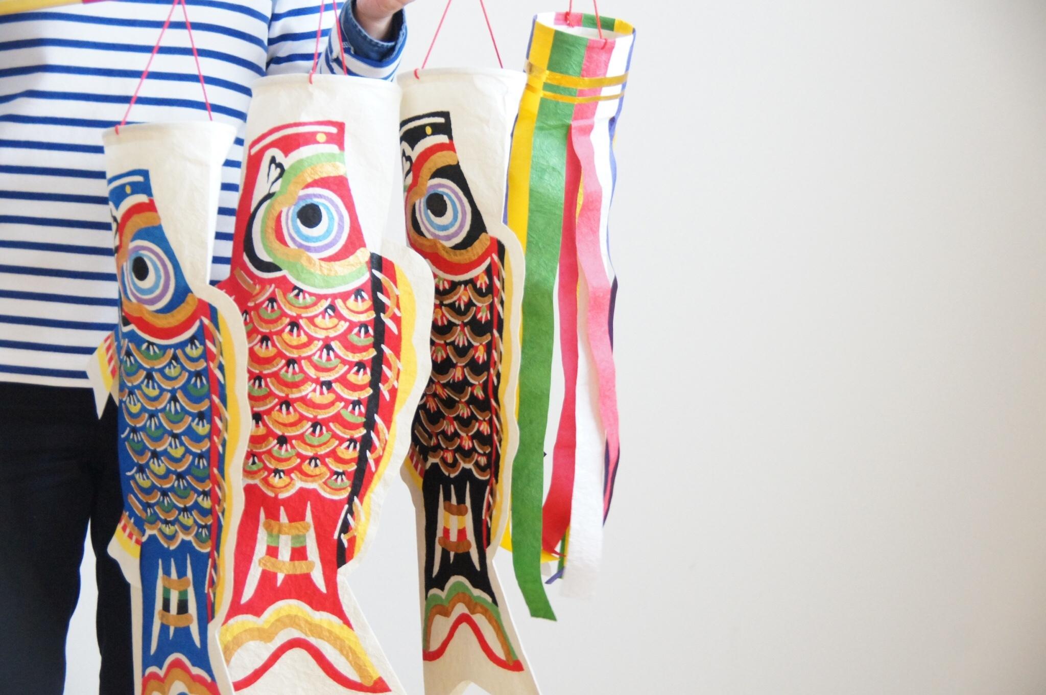【 桂樹舎 】富山市の伝統工芸「八尾和紙」を使った『鯉のぼり』