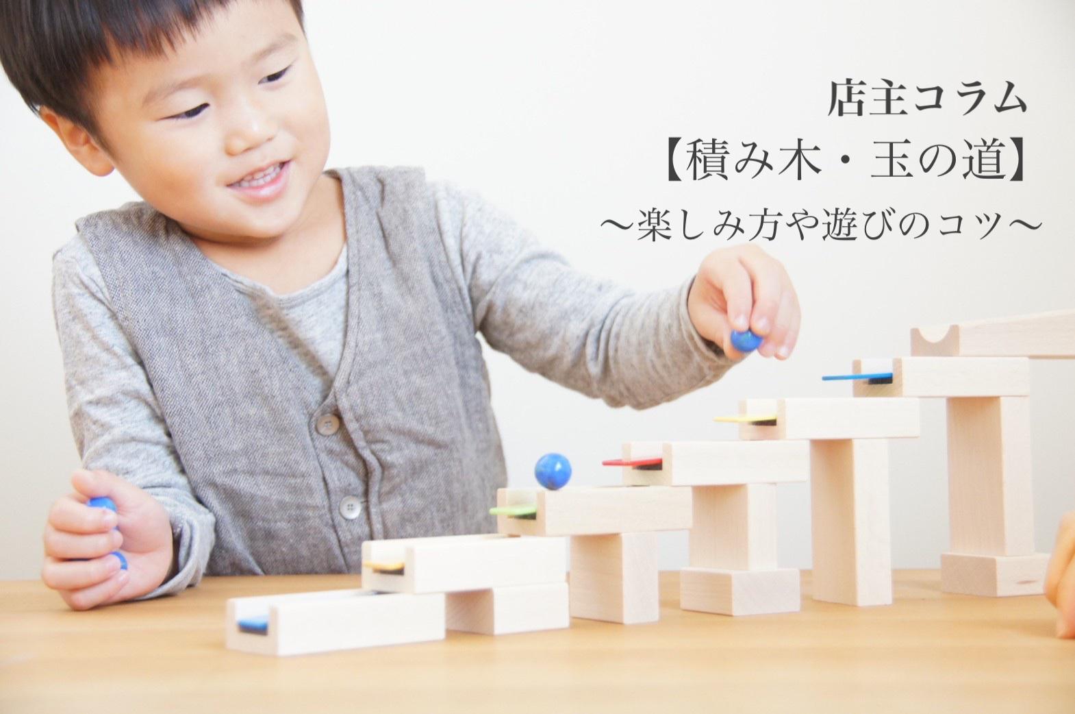 店主コラム【 積み木・玉の道 】〜楽しみ方や遊びのコツ〜